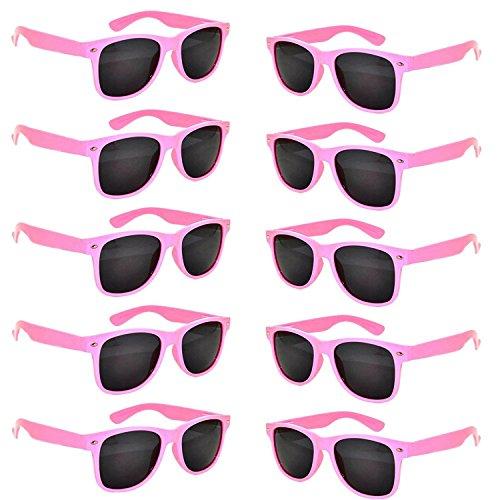 FSMILING Nerd Party Sonnenbrille UV400 Retro Design Stil Unisex Brille (10 Stück Rosa ()