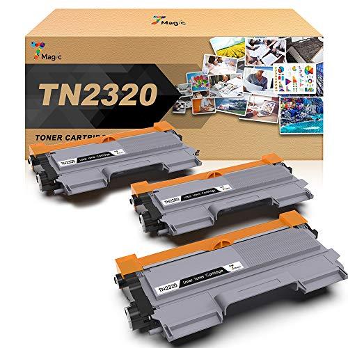 TN2320 7Magic TN-2320 Toner, Compatibile con Brother TN2320,Compatibile con Brother MFC-L2700DW MFC-L2740DW MFC-L2720DW HL-L2300D HL-L2340DW DCP-L2500D Stampante(3 Nero)