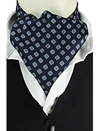 Navy Reversible Spot Cravat