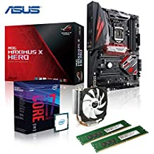 Memory PC Gaming Aufrüst-Kit Intel Core i7-8700 8. Generation (SixCore) Coffee Lake 6x 3.2 GHz, ASUS ROG MAXIMUS X HERO Z370 Gaming, AURA LED-Beleuchtung, 16 GB DDR4 2133Mhz, 1792 MB Intel UHD 630 Grafik 4K, USB 3.0, USB 3.1, USB 3 Typ C, USB 2.0, WI-FI AC, Bluetooth V4.2, SATA3, M.2 Sockel, Sound, GigabitLan, HDMI, Display-Port, GAMING-KIT, CoffeeLake, komplett fertig montiert und getestet