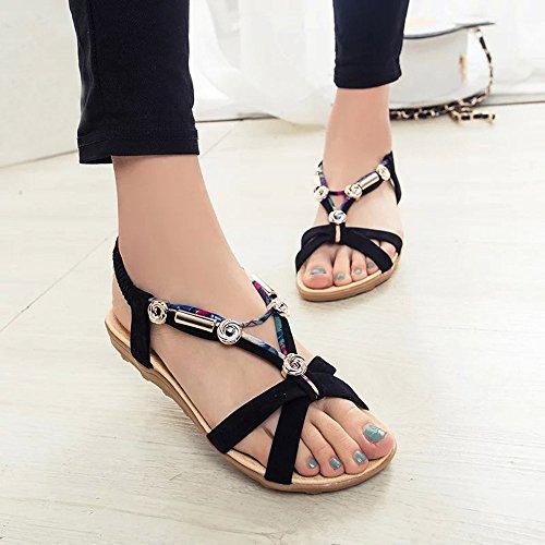 Longra sandali della signora Boemia Nero