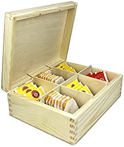 Boîte en bois Boîtes de thé par Net4client ® de bonne qualité Pure Bois Thé café sucre C'est un des petites boîtes de rangement Idéal pour une tasse de thé