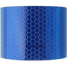 daorier sarga reflector banda cinta adhesiva de advertencia Seguridad Marcación Banda 3m x 5cm–Listones para coche camión Moto Lluvia abrigo color blanco