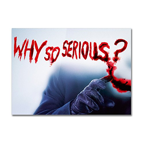 Poster Joker Why So Serious - su carta lucida fotografica - Formato, 30cmx40cm