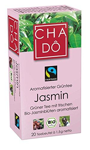Cha Dô Bio Fairtrade Jasmin Teebeutel 20x1,5g (1 x 20 Btl)