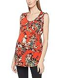 MAMALICIOUS Damen Umstands-T-Shirt Mlcuba S/L Woven Top, Mehrfarbig (Fiery Red Aop:Fiery Red/Twilight Blue/Ivy Green), 40 (Herstellergröße: L)