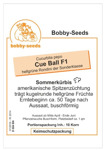 Bobby-Seeds Zucchinisamen Cue Ball F1 Portion