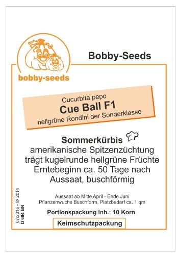 Bobby-Seeds Zucchinisamen Cue Ball F1 Portion