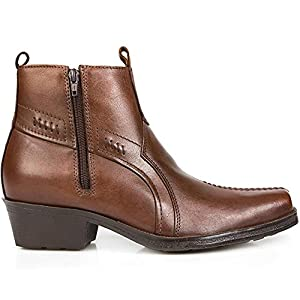 Pavers Leather Boot with Cuban Heel & Stitch 123 079 from Pavers