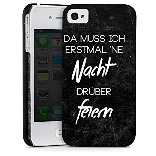 Apple iPhone X Silikon Hülle Case Schutzhülle Nacht Feiern Party Premium Case glänzend