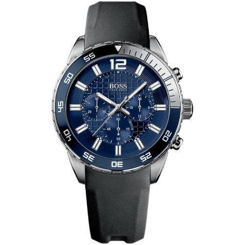 Hugo Boss HB-1512803 45mm Stainless Steel Case Black Silicone Mineral Men's Watch