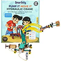 Smartivity Pump It Move It Hydraulic Crane for 8+ Years Boys and Girls, STEM, Learning, Educational and Construction Activity Toy Gift (Multi-Color)