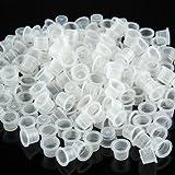 Tinta Taza - 200 Vasos de Plástico de Tatuaje Mediano Medio Blanco