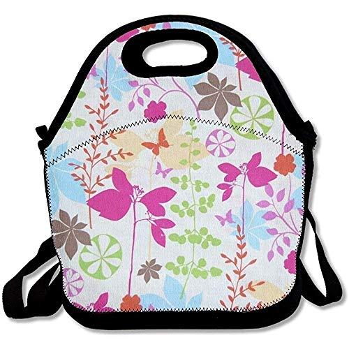 Isolierte große und dicke Neopren-Lunch-Taschen, isolierte Lunch-Tasche, Kühltasche, warm, mit Schultergurt, für Damen, Teenager, Mädchen, Kinder, Erwachsene