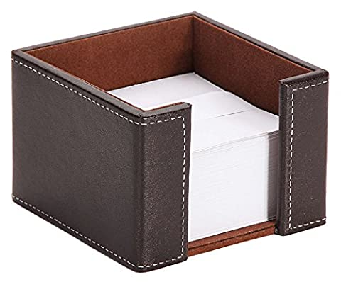 Osco Faux Leather Memo Pad Holder - Brown