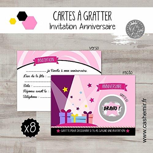 cartes-a-gratter-invitation-anniversaire-enfant-fille-par-lot-de-8-paquets-cadeaux-ref48