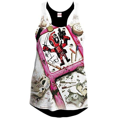 Deadpool Drawing Girl-Top multicolour S (Marvel-comic-tank)