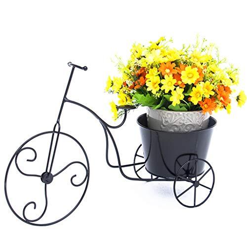 Grün-desktop-speicher (WYDM Blumen-Stand-Fensterbrett-Büro-Schmuck-Dekorations-Gestell-Blumen-Topf-Desktop-Speicher-Grün-Stiel-Orchideen-Balkon-Innengrünpflanze (Farbe : SCHWARZ))