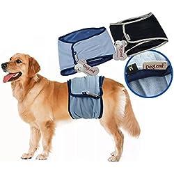 JBY 2PSC waschbar Hundeschutzhose männliche Haustier Hundewindeln Belly Wrap Wiederverwendbare Sanitär Windel Physiologische Unterwäche für die Ausbildung