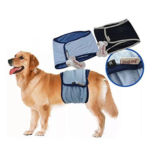 JBY 2PSC waschbar Hundeschutzhose männliche Haustier Hundewindeln Belly Wrap Wiederverwendbare Sanitär Windel Physiologische Unterwäche für die Ausbildung (80 Kostüme Männlich)