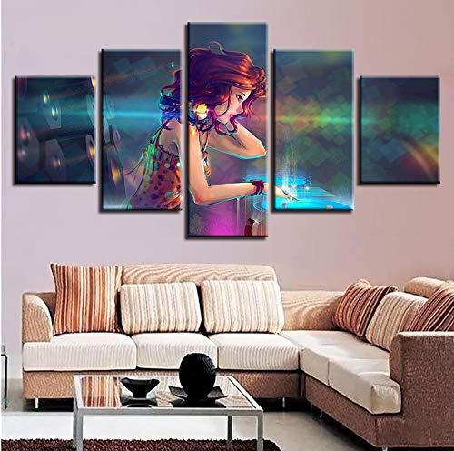 Wiwhy ModulareDrucke Wandkunst 5 Stücke Sexy Rote Haare -