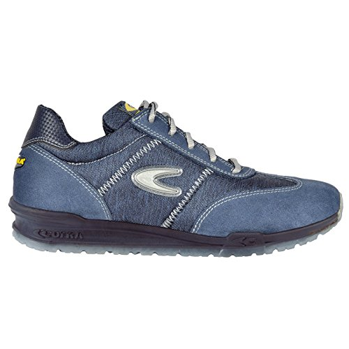 Cofra Wood Hoseträger–001.w45Größe 45S1P SRC brezzi Sicherheit Schuhe–Blau