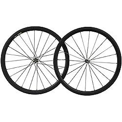 38mm 700C Aero Carbono Bicicleta Carretera Rueda Tubular Profundo Aero CN Radios