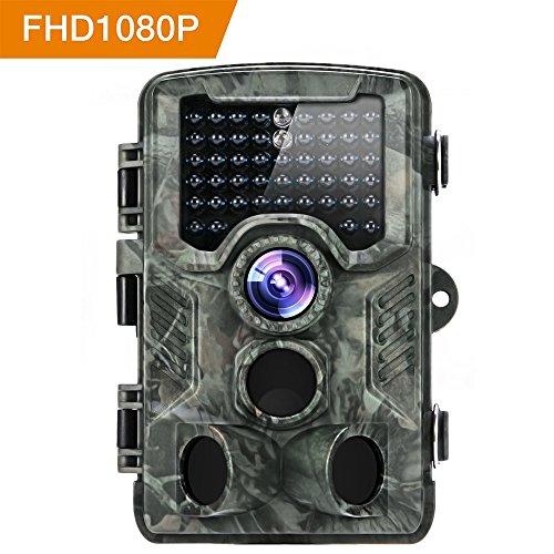 [Aktualisierte Version] Distianert 16MP 1080P HD Wildkamera Low-Glow-Infrarot-Schwarzblitz Jagdkamera 25m Erfassungsbereich 20m Nachtsicht Wasserdicht IP56 (Temperatur-einstellungen 8)