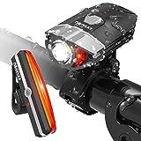 Fahrradlicht Led Set USB Wiederaufladbare Fahradbeleuchtung, Superhelle Fahrrad Frontlicht & LED wiederaufladbar Rücklicht KKUP2U Wasserdicht für Sicheres Radfahren