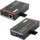 Ligawo 3070010 - HDMI Extender HDBaseT Standard (80m) Auflösungen bis 4K x 2K, 1080p 3D CEC IR-Extender für Weiterleitung Fernbedienungssignalen