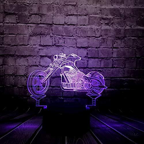 Raffreddare fantasia decorazione della tavola 3D LED luce notturna locomotiva moto auto 7 colore USB cambiare ragazzo regalo camera da letto decorazione umore lucido giorno dei bambini ## 6