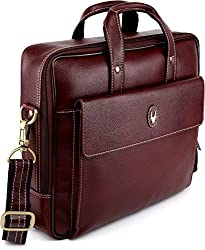 WildHorn 100% Genuine Leather 14 inch Laptop Messenger Bag