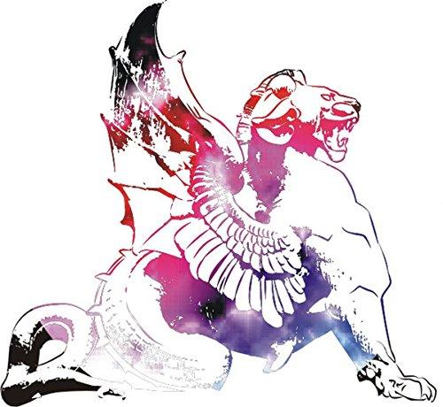 T-Shirt E237 Schönes T-Shirt mit farbigem Brustaufdruck - Logo / Grafik - abstraktes Gemälde Mehrfarbig