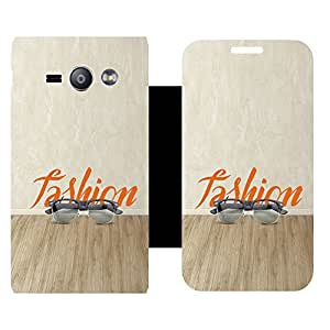 Phone Candy Designer Flip Cover with hi-res printed Vinyl sticker wrap-around for Samsung Galaxy J1 ACE