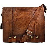 c72ba0ed65c Bolso de cuero bandolera de piel marrón bolso vintage espalda hombre mujer  de piel bolso messenger