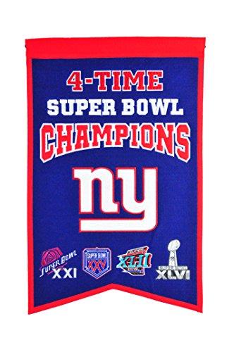 Winning Streak NFL New York Giants Super Bowl Champions Banner - New Giants-stoff York