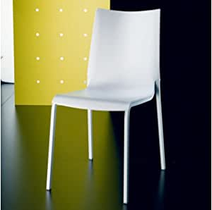 Set di 2 sedie Eva di Bontempi in polipropilene, Bianco