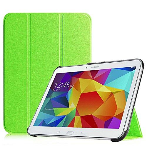 Fintie Samsung Galaxy Tab 4 10.1 Hülle Case - Ultra Schlank Superleicht Ständer SlimShell Cover Schutzhülle Etui Tasche mit Auto Schlaf / Wach Funktion für Samsung Galaxy Tab 4 10.1 SM-T530 SM-T535 (nicht geeignet für Samsung Galaxy Tab 3 10.1), Grün
