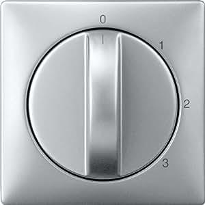 Merten 316960 Zentralplatte für Dreistufen-Drehschalter, aluminium, System Fläche
