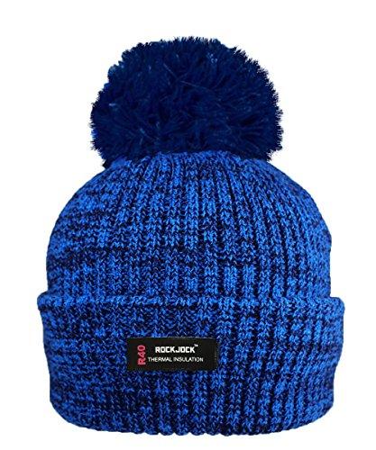 ROCKJOCK R40 Wärmedämmung Damen Marl Bobble Hut mit Fleece Futter (Körper, Schlitten)