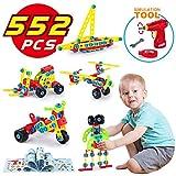 LUKAT Bausteine Spielzeug für 5, 6, 7, 8, 9 Jahre und älter Kinder, Gebäude Lernen Pädagogische Bausteine, 552 Stücke Geschenk