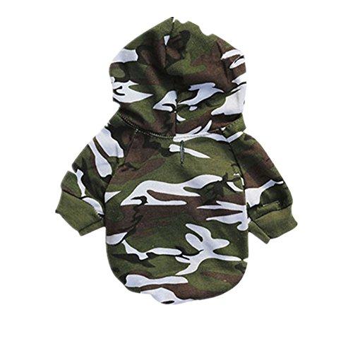 erthome Welpe Haustier Hund Kleider Camouflage Kapuzenpulli Pullover (XS, Camouflage) -
