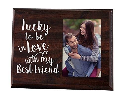 Lucky to be in love Romantisches Geschenk Bild Rahmen für Freund Geschenk für sie Geschenk für ihn Frau Geschenk Freundin Geschenk Jahrestag Geschenk