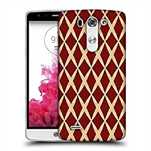 Snoogg Red Diamonds Designer Protective Phone Back Case Cover For LG G3 BEAT