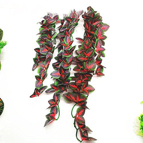 Jiacheng29 Künstliche Rankenpflanze für Aquarien, für Reptilien