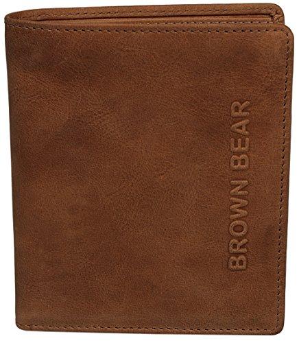 Brown Bear Geldbörse Hochformat Leder vintage Steve w