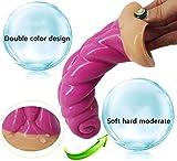 SQM 羊角 - 模 - Anal-Sex Penis-Sex-Geräte für Erwachsene - Silikon-Massage-Haut Anal,Rosa,20 cm * 4