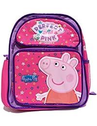 """Peppa Pig Perfecta y Rosa 14de mochila escolar grande (1567) """""""