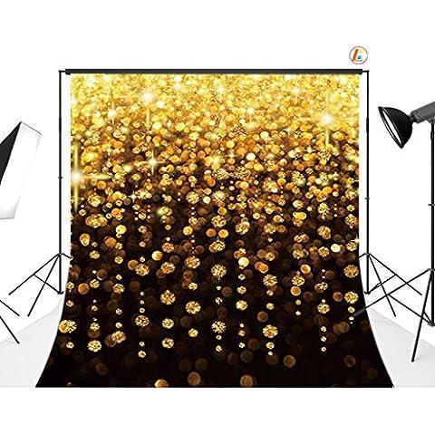 Sottile in vinile Studio Oro Palline sfondo CP fotografia prop foto sfondo 22/200x 200cm xb14