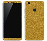 #5: GADGETS WRAP Vivo V7 Plus Gold Glitter Skin for Front & Back C2A05